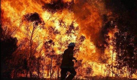 brandweerman loopt